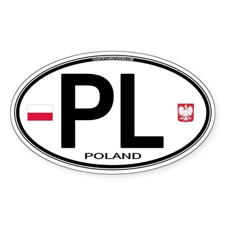 Poland Intl Oval Oval Sticker
