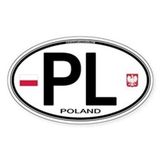 Poland Intl Oval Oval Stickers