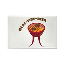 Meat Fire Beer Magnets