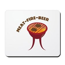 Meat Fire Beer Mousepad