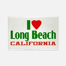 I Love Long Beach, California Rectangle Magnet