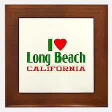 I Love Long Beach, California Framed Tile