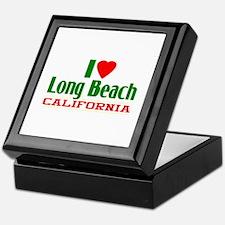 I Love Long Beach, California Keepsake Box