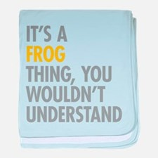 Its A Frog Thing baby blanket