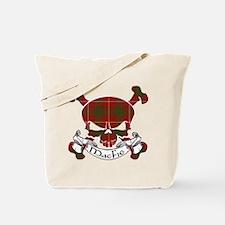 MacFie Tartan Skull Tote Bag