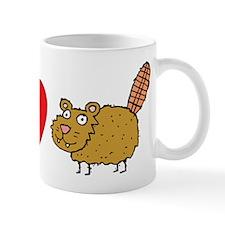 Peace Love & Beaver Small Mugs