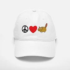 Peace Love & Beaver Baseball Baseball Cap