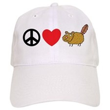 Peace Love & Beaver Baseball Cap