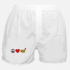 Peace Love & Beaver Boxer Shorts