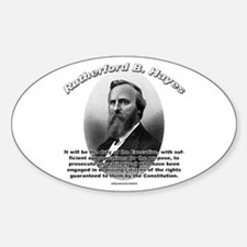 Rutherford B. Hayes 01 Oval Decal
