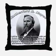 Rutherford B. Hayes 01 Throw Pillow