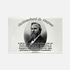 Rutherford B. Hayes 01 Rectangle Magnet