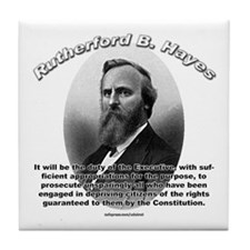 Rutherford B. Hayes 01 Tile Coaster
