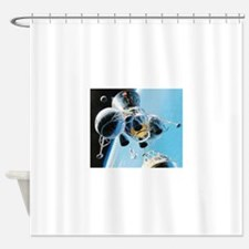 lunar landing Shower Curtain