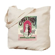 Jazz Couple 1920s Flapper Dancing Tote Bag