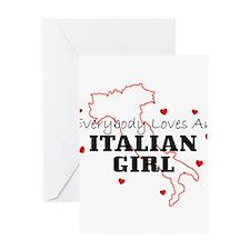 italiangirl Greeting Cards