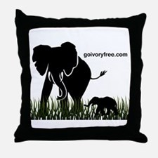 Elephant Lover Throw Pillow