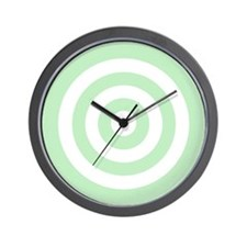 Light Green White Bullseye Tablecloth Wall Clock
