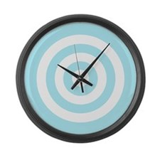 Light Blue White Bullseye Tablecloth Large Wall Cl