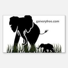 Elephant Lover Sticker (Rectangle)