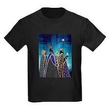 Three Magi Bearing Gifts Under Starry Sky T-Shirt