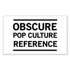Obscure Pop Culture Reference Decal