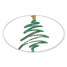 Sweeping Green Metallic Logo Christmas Tree with G