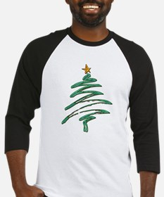 Sweeping Green Metallic Logo Christmas Baseball Je