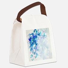 Cute Blue Canvas Lunch Bag
