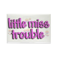 Little miss trouble Rectangle Magnet