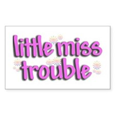 Little miss trouble Rectangle Decal