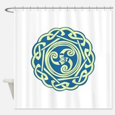 Celtic Spiral Shower Curtain