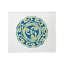 Celtic Spiral Throw Blanket