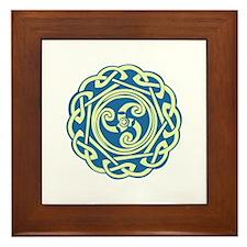 Celtic Spiral Framed Tile