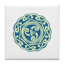 Celtic Spiral Tile Coaster