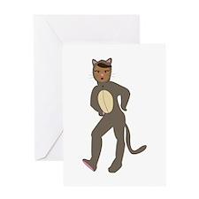 Cat Suit Greeting Cards