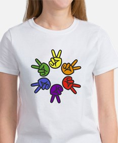 Peace Sign Fingers Women's T-Shirt