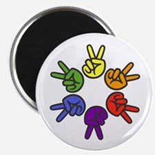 Peace Sign Fingers Magnet