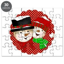 Snowmen Red Puzzle