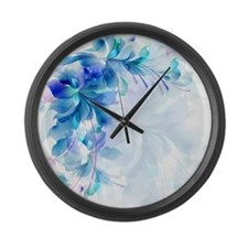 Funny Flower Large Wall Clock