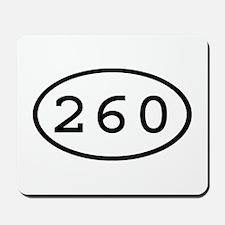 260 Oval Mousepad