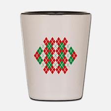 Holiday Argyle Shot Glass