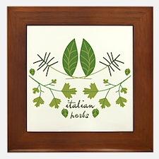 Italian Herbs Framed Tile