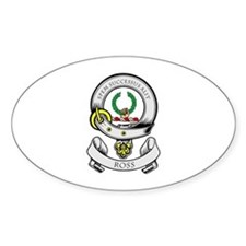 ROSS 1 Coat of Arms Oval Decal
