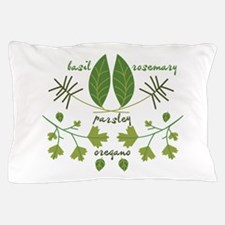 Various Herbs Pillow Case