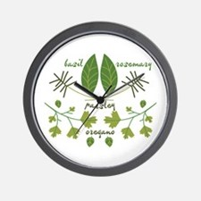 Various Herbs Wall Clock