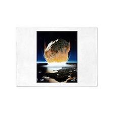 asteroid strike 5'x7'Area Rug
