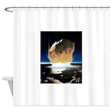 asteroid strike Shower Curtain