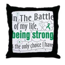 Liver Cancer Battle Throw Pillow