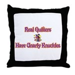 Quilters Gnarly Knuckles Throw Pillow